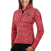 Wholesale Cheap NHL Antigua Women's Fortune 1/2-Zip Pullover Sweater Red