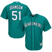 Wholesale Cheap Mariners #51 Randy Johnson Green Cool Base Stitched Youth MLB Jersey