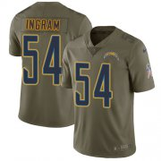 Wholesale Cheap Nike Chargers #54 Melvin Ingram Olive Youth Stitched NFL Limited 2017 Salute to Service Jersey