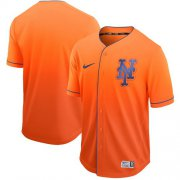 Wholesale Cheap Nike Mets Blank Orange Fade Authentic Stitched MLB Jersey