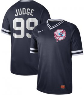Wholesale Cheap Nike Yankees #99 Aaron Judge Navy Authentic Cooperstown Collection Stitched MLB Jersey