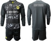 Wholesale Cheap Dortmund Blank Away Long Sleeves Soccer Club Jersey