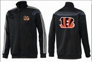 Wholesale Cheap NFL Cincinnati Bengals Team Logo Jacket Black_3