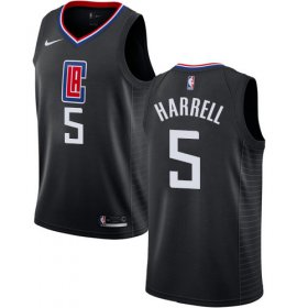 Wholesale Cheap Nike Clippers #5 Montrezl Harrell Black NBA Swingman Statement Edition Jersey
