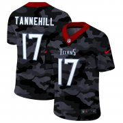 Cheap Tennessee Titans #17 Ryan Tannehill Men's Nike 2020 Black CAMO Vapor Untouchable Limited Stitched NFL Jersey