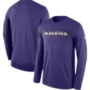 Wholesale Cheap Baltimore Ravens Nike Sideline Seismic Legend Long Sleeve T-Shirt Purple