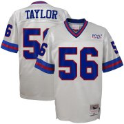 Wholesale Cheap Youth New York Giants #56 Lawrence Taylor Mitchell & Ness Platinum NFL 100 Retired Player Legacy Jersey