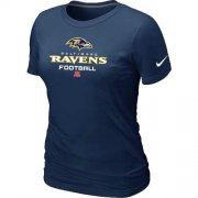 Wholesale Cheap Women's Nike Baltimore Ravens Critical Victory NFL T-Shirt Dark Blue