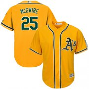 Wholesale Cheap Athletics #25 Mark McGwire Gold Cool Base Stitched Youth MLB Jersey