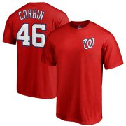 Wholesale Cheap Washington Nationals #46 Patrick Corbin Majestic Official Name & Number T-Shirt Red