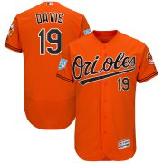 Wholesale Cheap Orioles #19 Chris Davis Orange 2019 Spring Training Flex Base Stitched MLB Jersey