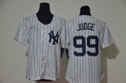 Wholesale Cheap Women's New York Yankees #2 Derek Jeter No Name White Throwback Stitched MLB Cool Base Nike Jersey