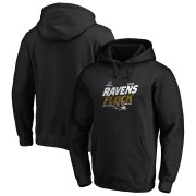 Wholesale Cheap Baltimore Ravens 2019 NFL Playoffs Bound Hometown Checkdown Pullover Hoodie Black