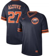 Wholesale Cheap Nike Astros #27 Jose Altuve Navy Authentic Cooperstown Collection Stitched MLB Jersey