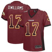Wholesale Cheap Nike Redskins #17 Doug Williams Burgundy Red Team Color Women's Stitched NFL Elite Drift Fashion Jersey