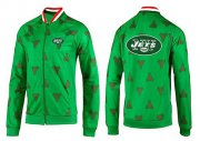 Wholesale Cheap NFL New York Jets Team Logo Jacket Green_1