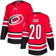 Wholesale Cheap Adidas Hurricanes #20 Sebastian Aho Red Home Authentic Stitched Youth NHL Jersey