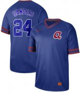 Wholesale Cheap Nike Braves #24 Deion Sanders Royal Authentic Cooperstown Collection Stitched MLB Jersey