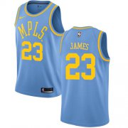Wholesale Cheap Nike Los Angeles Lakers #23 LeBron James Royal Blue NBA Swingman Hardwood Classics Jersey
