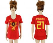 Wholesale Cheap Women's Belgium #21 Batshuayi Red Home Soccer Country Jersey