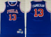Wholesale Cheap Philadelphia 76ers #13 Wilt Chamberlain Blue Swingman Throwback Jersey