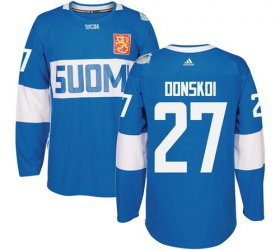 Wholesale Cheap Team Finland #27 Joonas Donskoi Blue 2016 World Cup Stitched NHL Jersey