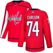 Wholesale Cheap Adidas Capitals #74 John Carlson Red Home Authentic Stitched NHL Jersey
