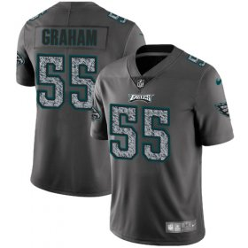 Wholesale Cheap Nike Eagles #55 Brandon Graham Gray Static Men\'s Stitched NFL Vapor Untouchable Limited Jersey