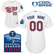 Wholesale Cheap Twins Personalized Authentic White 2010 Cool Base MLB Jersey (S-3XL)
