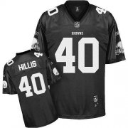 Wholesale Cheap Browns #40 Peyton Hillis Black Shadow Stitched NFL Jersey
