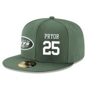 Wholesale Cheap New York Jets #25 Calvin Pryor Snapback Cap NFL Player Green with White Number Stitched Hat