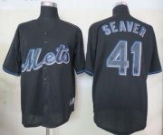 Wholesale Cheap Mets #41 Tom Seaver Black Fashion Stitched MLB Jersey