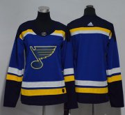 Wholesale Cheap Adidas Blues Blank Blue Home Authentic Women's Stitched NHL Jersey