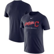 Wholesale Cheap Cleveland Indians Nike MLB Practice T-Shirt Navy