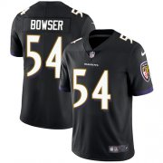 Wholesale Cheap Nike Ravens #54 Tyus Bowser Black Alternate Men's Stitched NFL Vapor Untouchable Limited Jersey