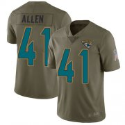 Wholesale Cheap Nike Jaguars #41 Josh Allen Olive Men's Stitched NFL Limited 2017 Salute To Service Jersey