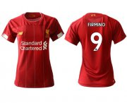 Wholesale Cheap Women's Liverpool #9 Firmino Red Home Soccer Club Jersey