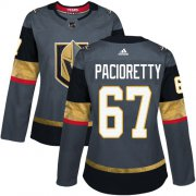 Wholesale Cheap Adidas Golden Knights #67 Max Pacioretty Grey Home Authentic Women's Stitched NHL Jersey