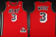 Wholesale Cheap Miami Heat #3 Dwyane Wade ABA Hardwood Classics Swingman Red Jersey