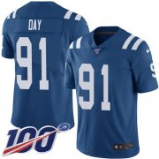 Wholesale Cheap Nike Colts #91 Sheldon Day Royal Blue Team Color Youth Stitched NFL 100th Season Vapor Untouchable Limited Jersey