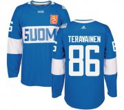 Wholesale Cheap Team Finland #86 Teuvo Teravainen Blue 2016 World Cup Stitched NHL Jersey