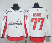 Wholesale Cheap Adidas Capitals #77 T.J. Oshie White Road Authentic Stitched NHL Jersey