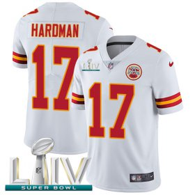Wholesale Cheap Nike Chiefs #17 Mecole Hardman White Super Bowl LIV 2020 Youth Stitched NFL Vapor Untouchable Limited Jersey