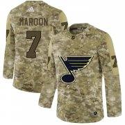 Wholesale Cheap Adidas Blues #7 Patrick Maroon Camo Authentic Stitched NHL Jersey
