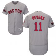 Wholesale Cheap Red Sox #11 Rafael Devers Grey Flexbase Authentic Collection 2018 World Series Champions Stitched MLB Jersey