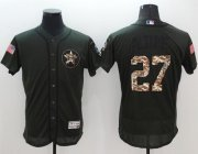 Wholesale Cheap Astros #27 Jose Altuve Green Flexbase Authentic Collection Salute to Service Stitched MLB Jersey