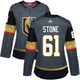 Wholesale Cheap Adidas Golden Knights #61 Mark Stone Grey Home Authentic Women\'s Stitched NHL Jersey