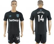 Wholesale Cheap West Ham United #14 Obiang Away Soccer Club Jersey