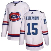 Wholesale Cheap Adidas Canadiens #15 Jesperi Kotkaniemi White Authentic 2017 100 Classic Stitched Youth NHL Jersey