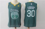 Wholesale Cheap Men's Golden State Warriors #30 Stephen Curry Dark Green 2017-2018 Nike Swingman Rakuten Stitched NBA Jersey